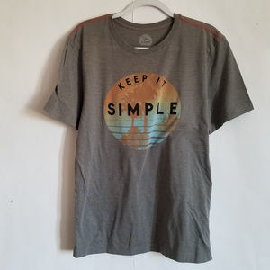 Mens gray t-shirt classic fit Large